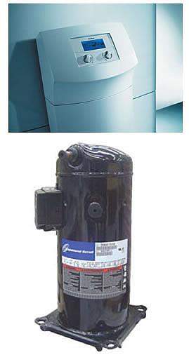 Цифровой регулятор и спиральный компрессор теплового насоса Vaillant geoTHERM VWS 61-3 VWS 171-3