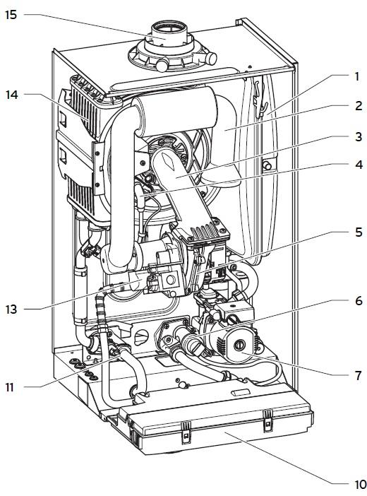 Настенный газовый конденсационный котёл Vaillant ecoTEC plus VU 466/4