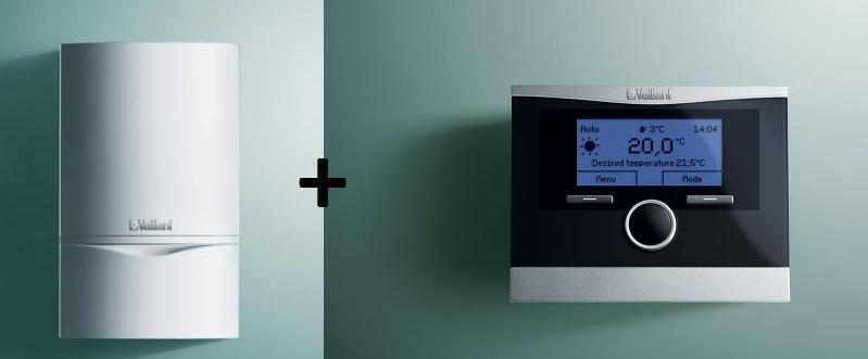 Настенный газовый котел + комнатный регулятор